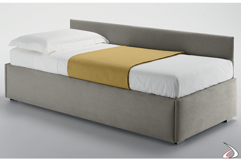 Contemporary single upholstered bed for kids