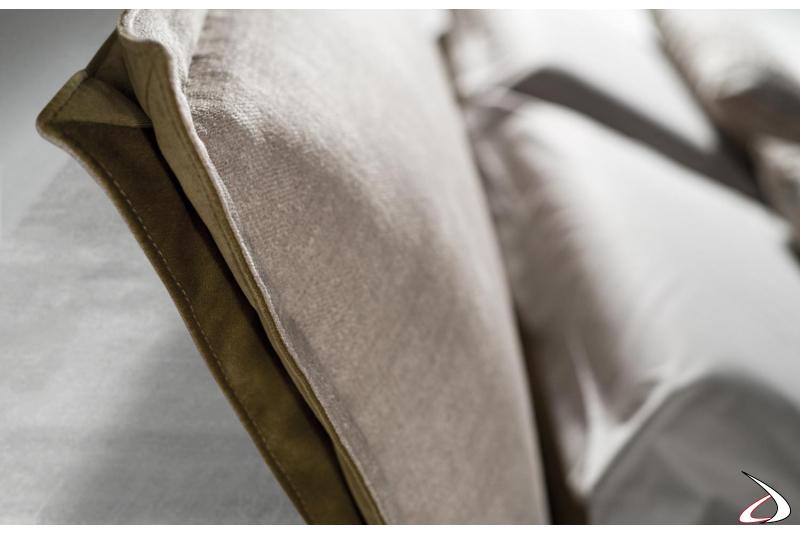 Letto moderno in tessuto completamente sfoderabile