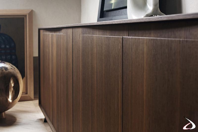Credenza di design in legno impiallacciato rovere made in Italy