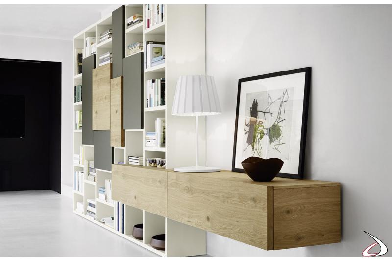 Mobile libreria moderna in legno