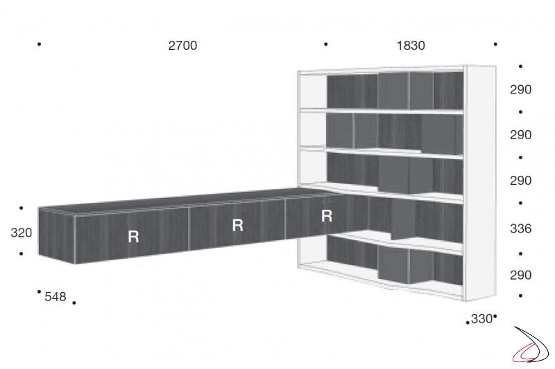 Misure parete soggiorno ad angolo