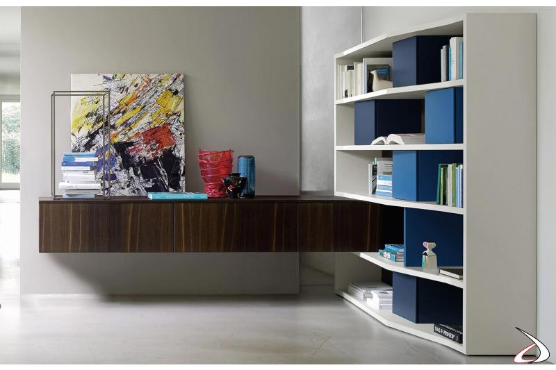 Mobile soggiorno di design ad angolo