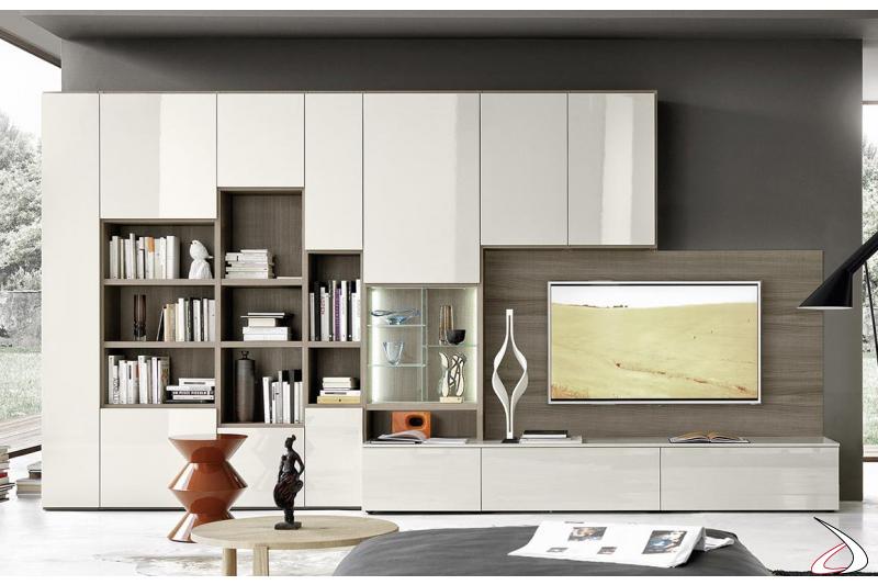 Mobile soggiorno in legno di design