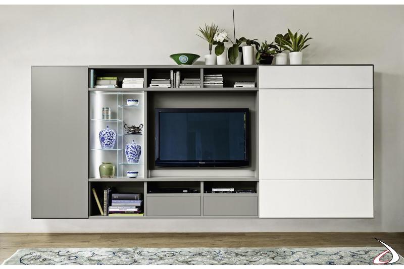 Mobile soggiorno con vano porta tv