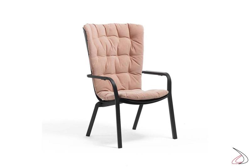 Cuscino comfort color rosa quarzo