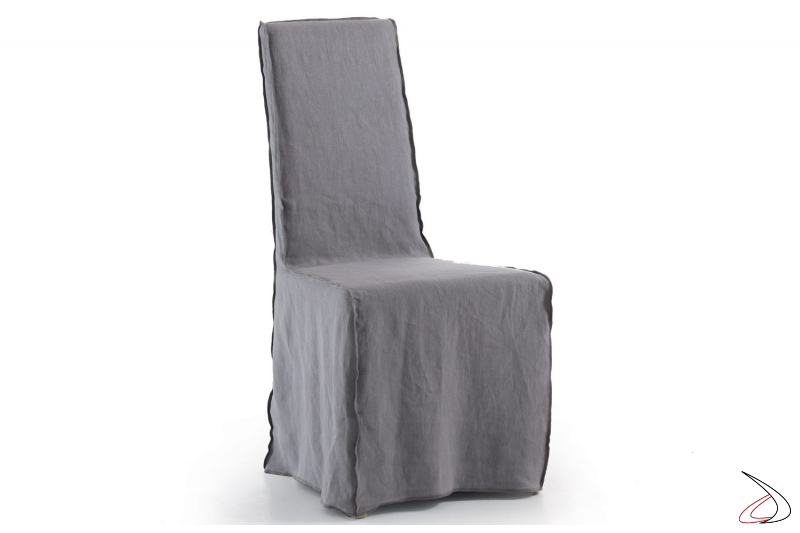 Sedia classica con tessuto sfoderabile e cuciture estrerne