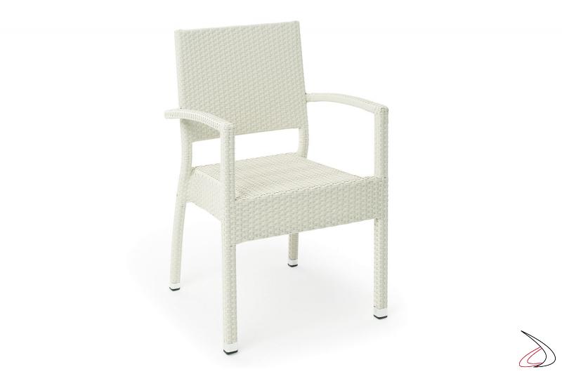 Sedia da arredo giardino colore bianco