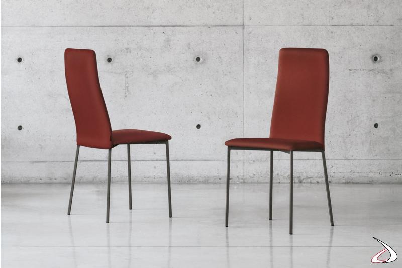 Sedia moderna da soggiorno imbottita Kent