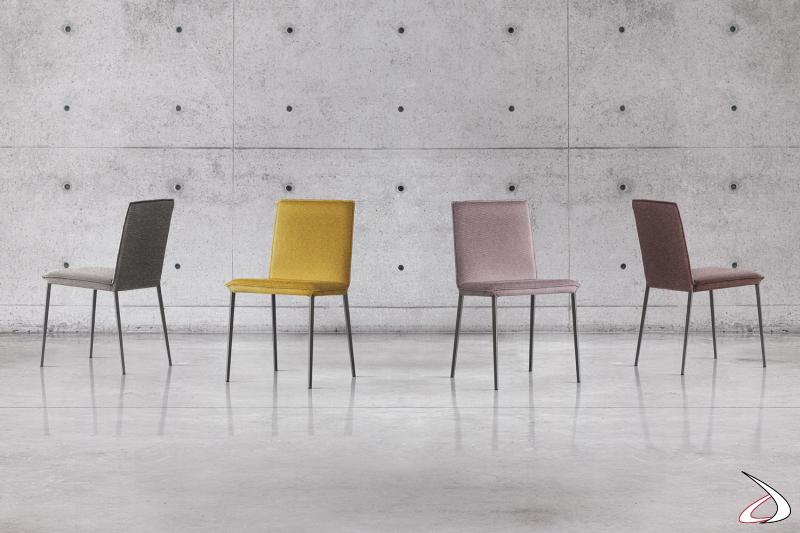 Sedie moderne colorate Elling