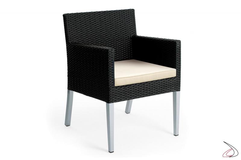 Sedia moderna da esterno colore antracite