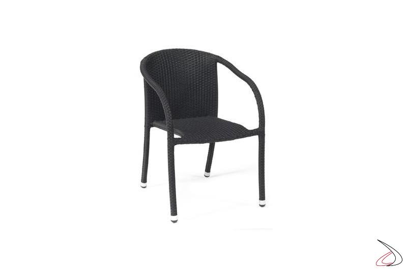 Sedia arredo bar esterno in colore antracite