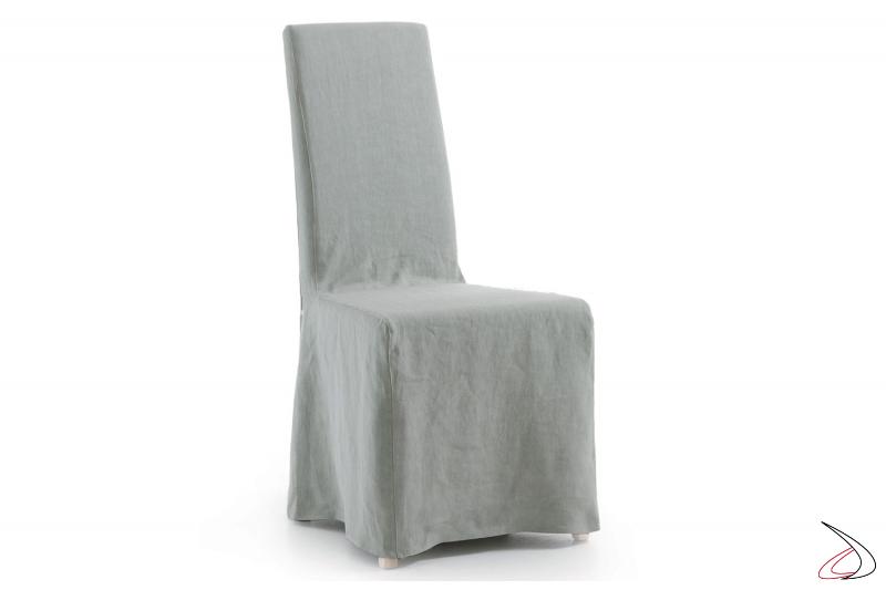 Sedia contemporanea per tavolo soggiorno con tessuto sfoderabile
