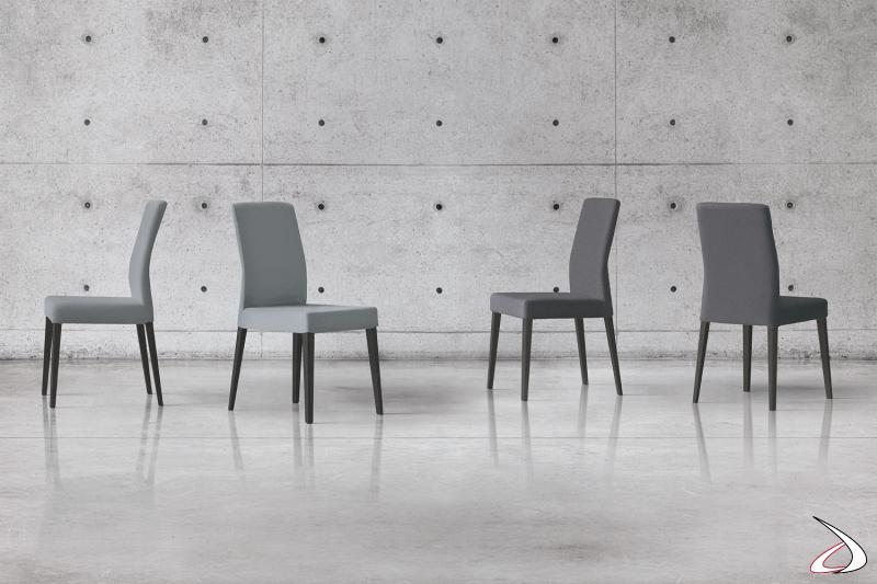 Sedia con schienale alto per sala da pranzo