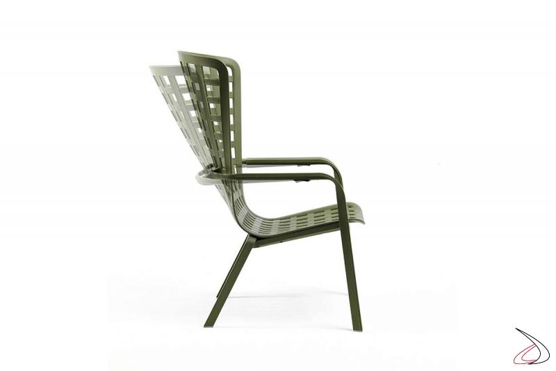 Poltrona relax per l'outdoor reclinabile