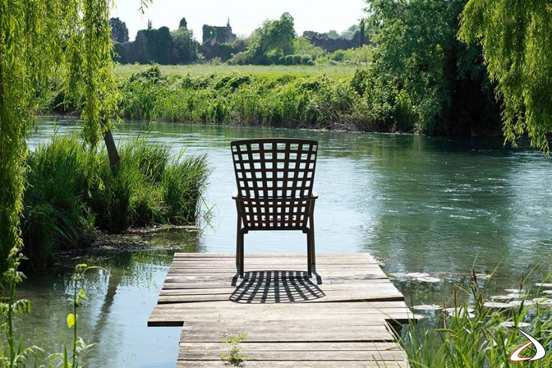 Poltrona reclinabile per giardino