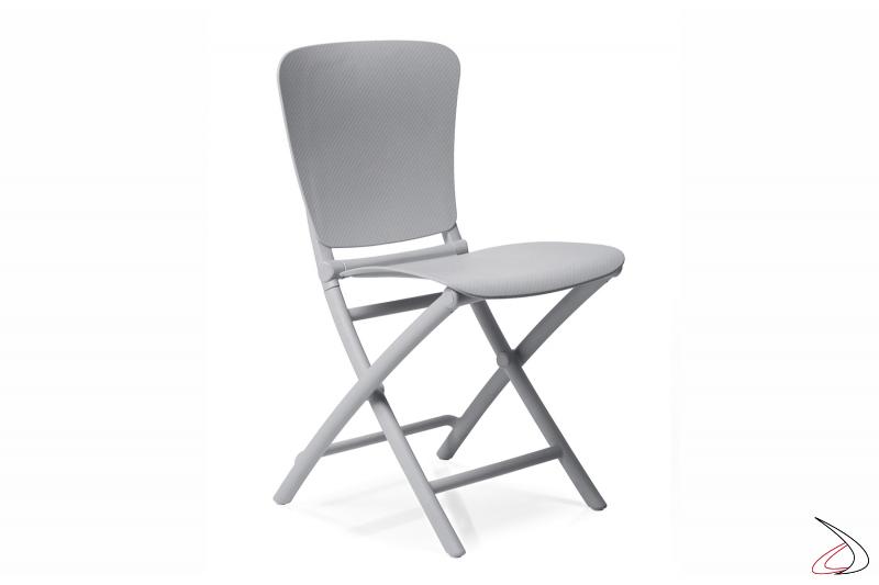 Sedia pieghevole Zac Classic in color grigio