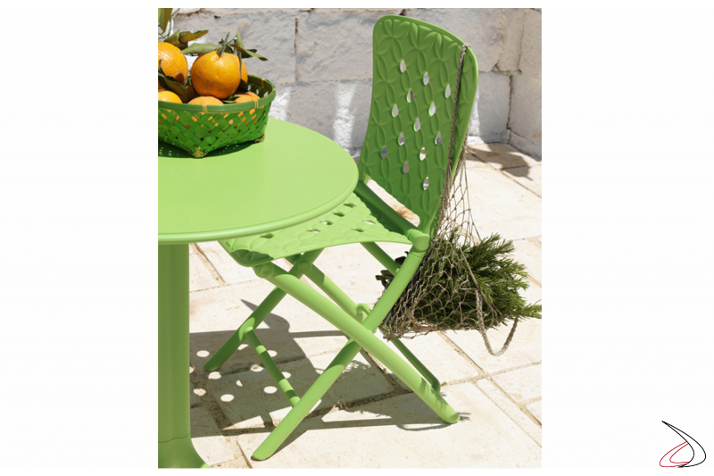 Sedia Spring e tavolo Spritz in color lime