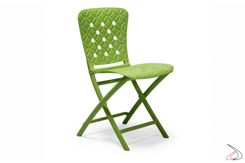Sedia pieghevole Zac Spring in color lime