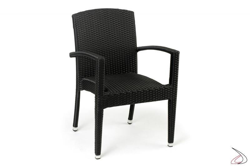 Sedia con poggioli da esterno colore antracite