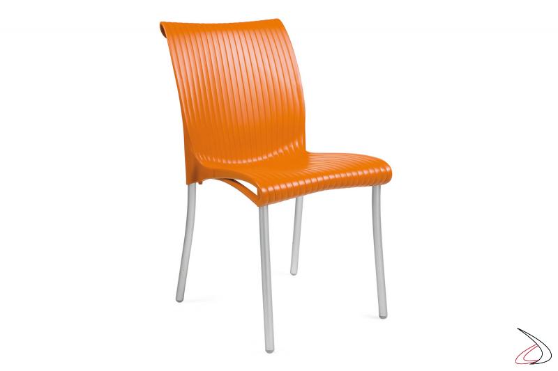 Sedia Regina arancio