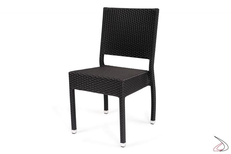 Sedia con schienale da giardino colore antracite