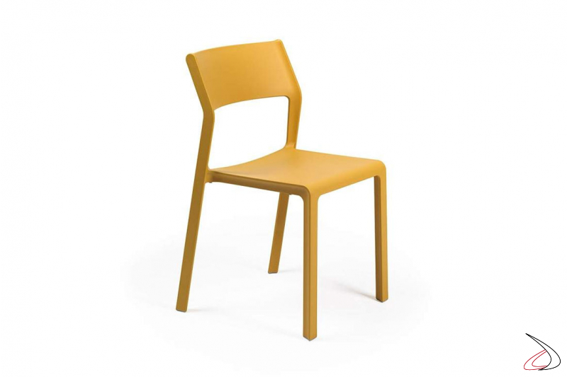 sedia per esterno senape