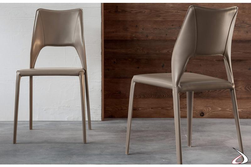 Sedie moderne di design per il tavolo soggiorno
