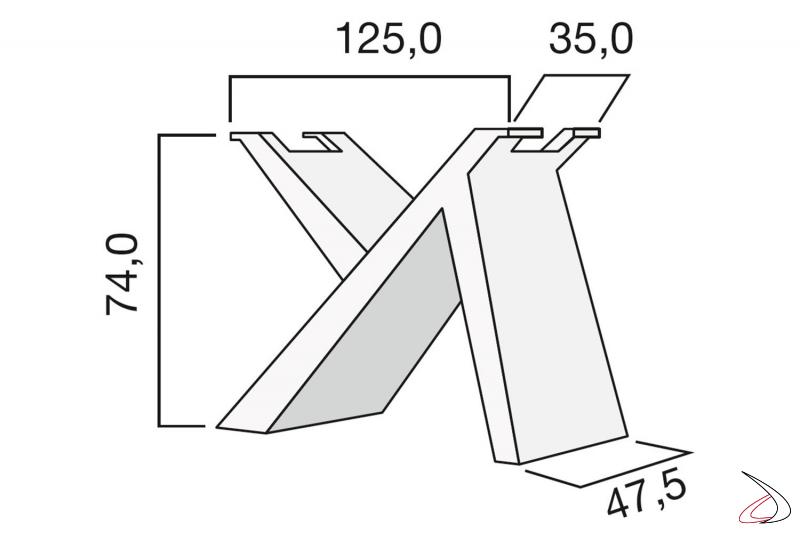 Misure basamento in legno per tavolo di design