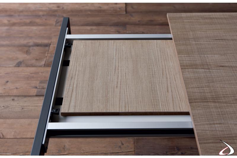 Meccanismo allungamento tavolo moderno