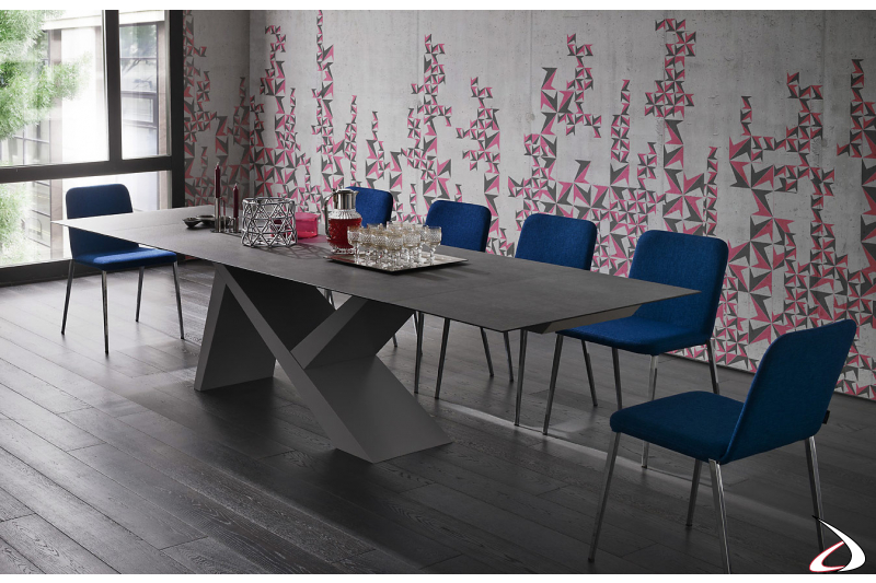 Contemporary extending table for the living room