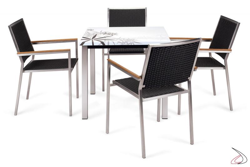 Set arredo bar con tavolo e sedie