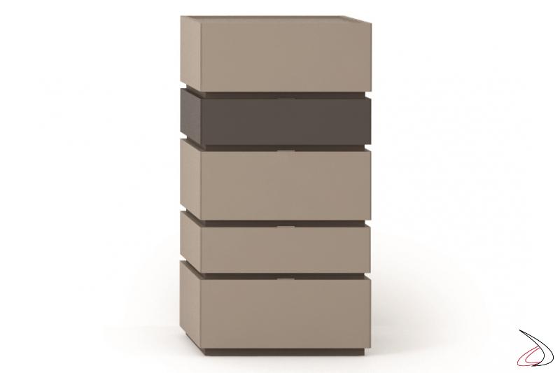Settimino moderno con cassetti orientabili e bifacciale