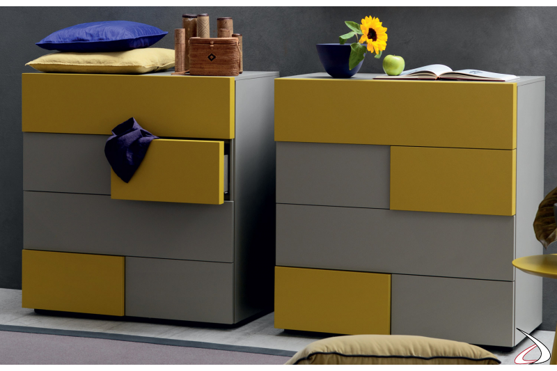 vertical storage unit  with 6 drawers
