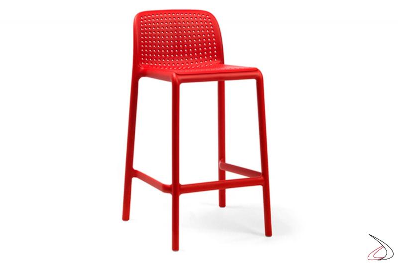 Sgabello colore rosso modello lido