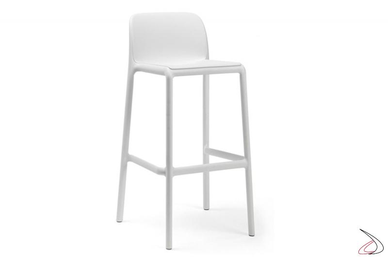 Sgabello di colore bianco modello Faro