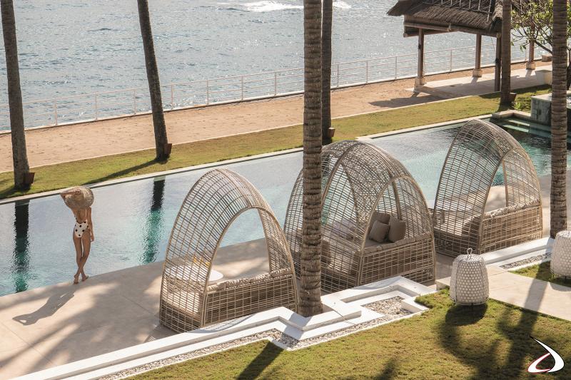 Daybed di design per arredo esterno hotel di lusso