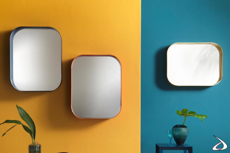 Specchiere colorate con angoli arrotondati Diletta