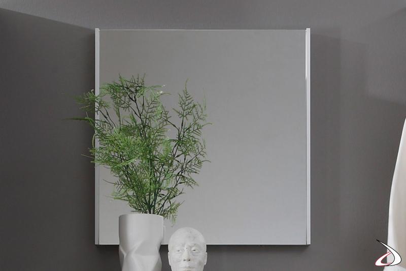 Specchio quadrato con cornice sottile Cool