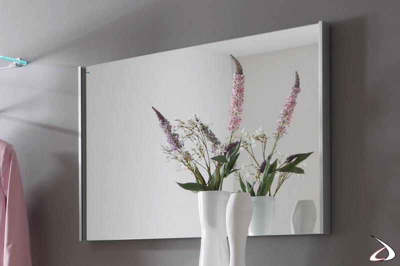 Specchio con cornice sottile Cool
