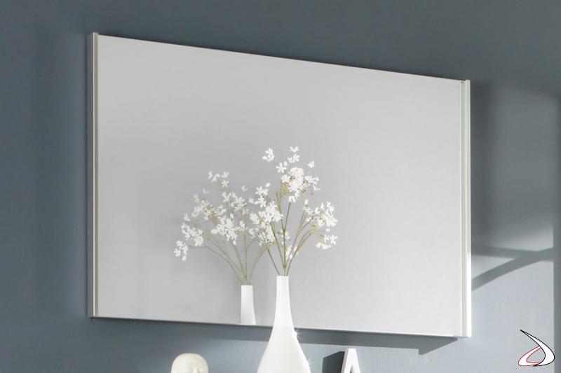 Specchio rettangolare con cornice sottile Cool