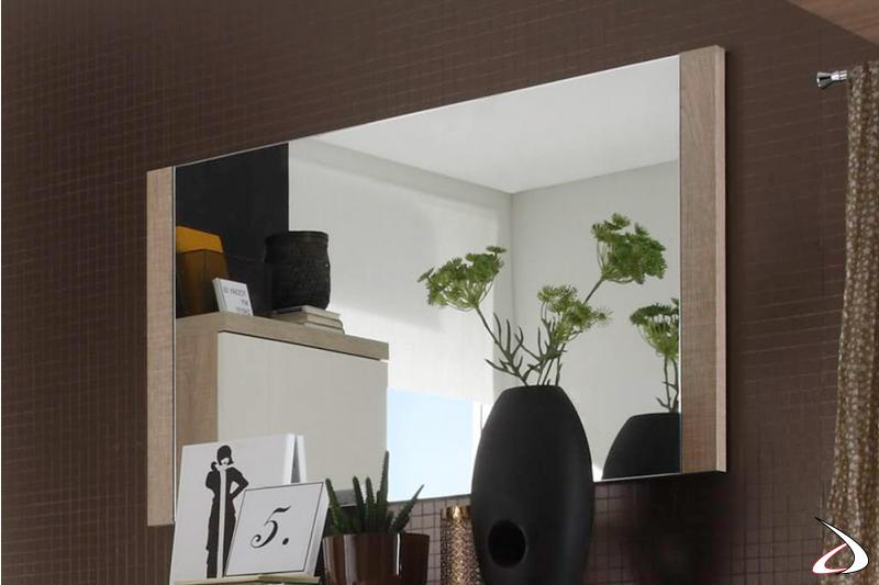 Specchio rettangolare Meda con cornice