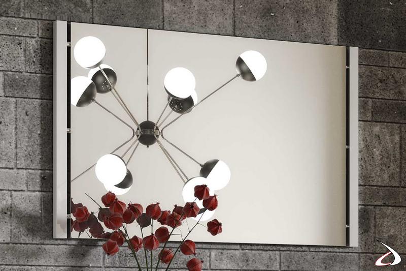 Specchio rettangolare con cornice bianca Move
