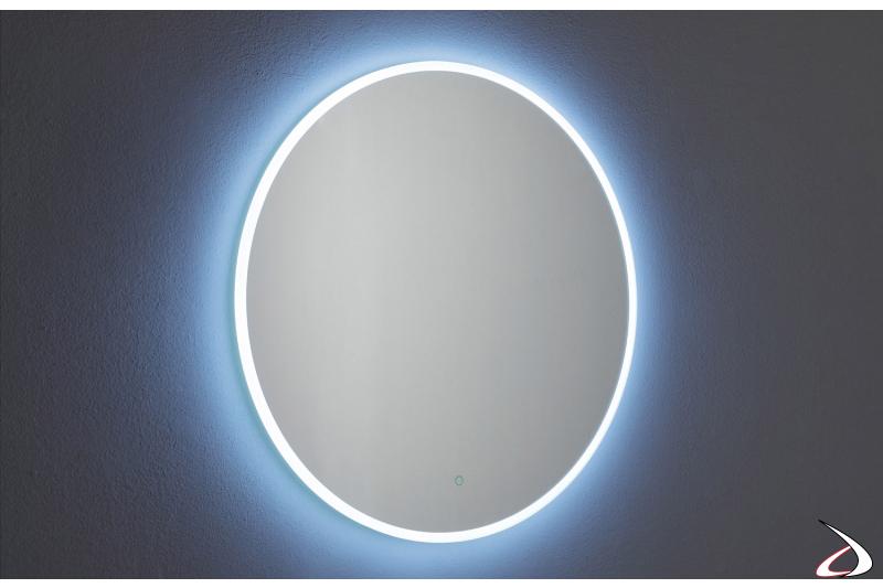 Specchio rotondo design con antiappannamento