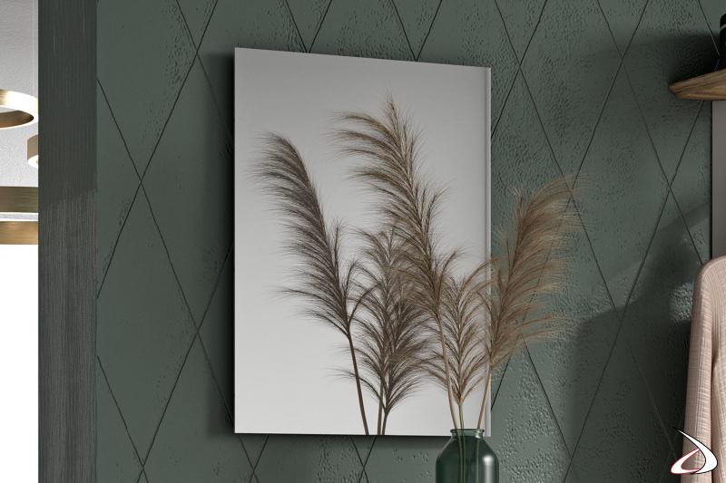 Specchio rettangolare moderno Firenze posizionabile in verticale