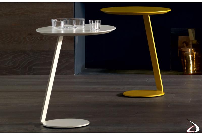 Tavolini rotondi in metallo per il salotto