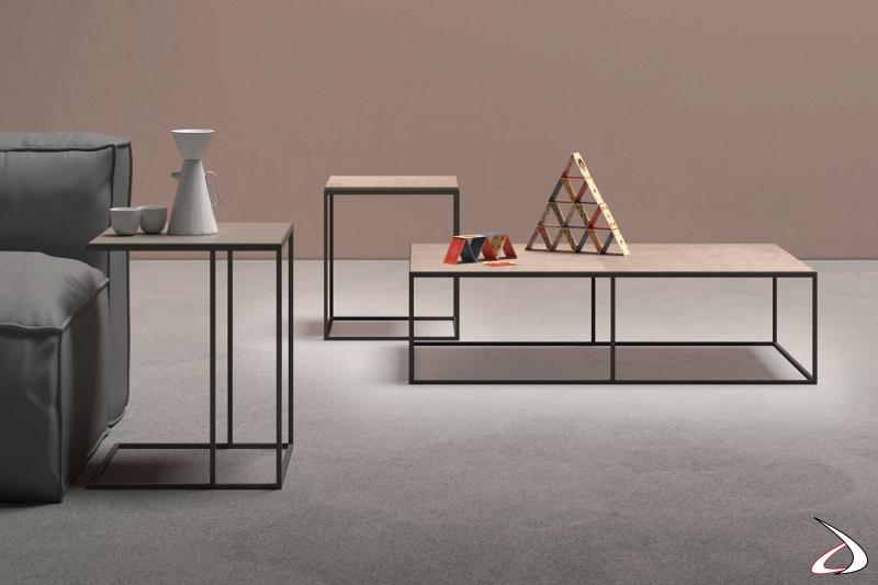 Tavolino Kobe da posizionare fronte divano o accanto al divano