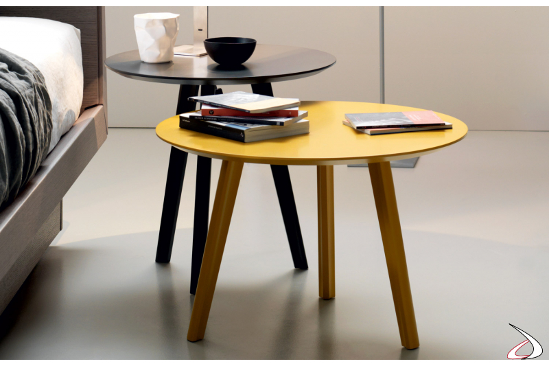 Tavolino design rotondo per camera da letto