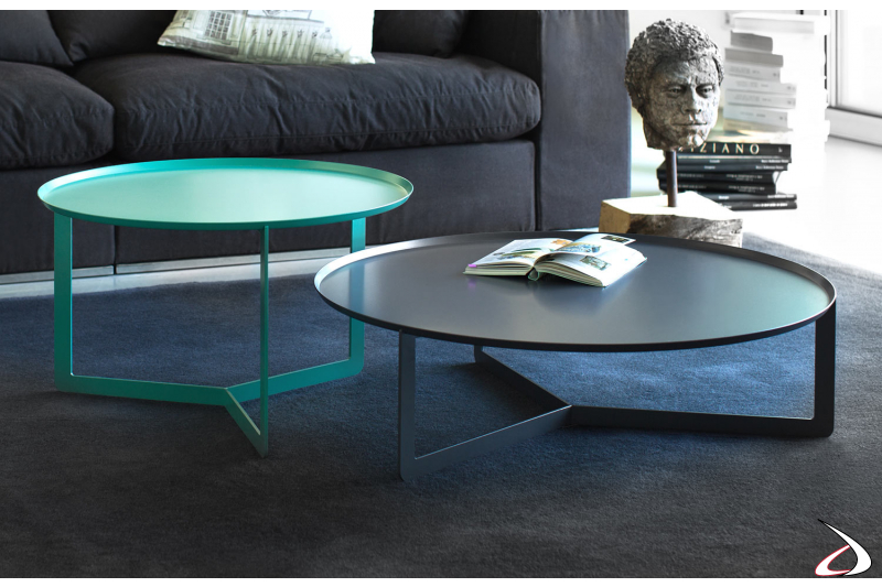 Round design coffee tables