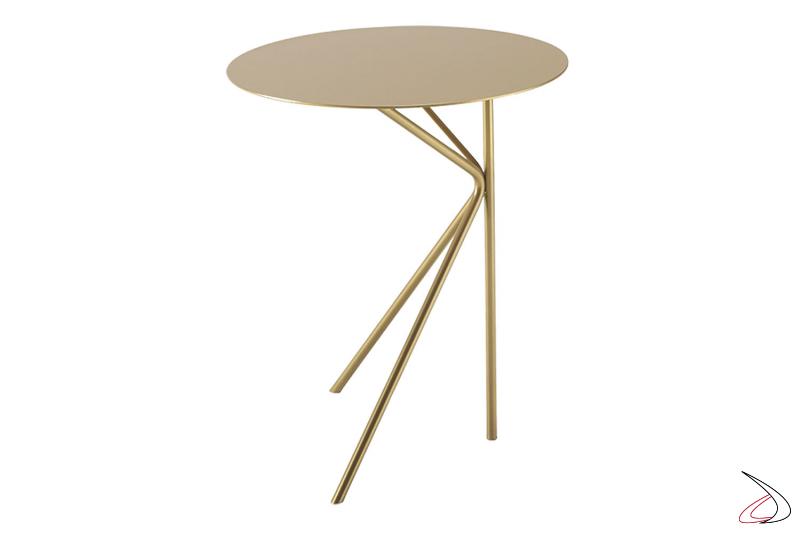 Tavolino in metallo da posizionare al fianco del divano