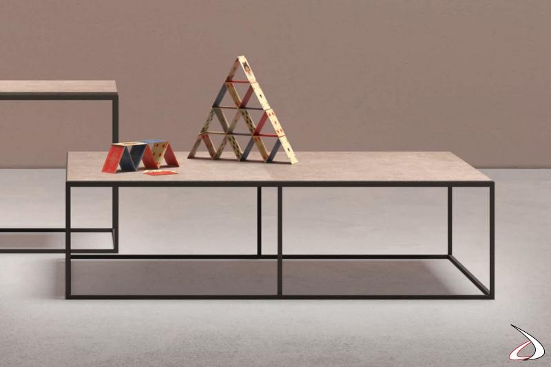 Tavolino basso rettangolare Kobe